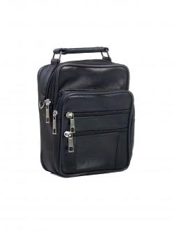 Чанта за мъже от естествена кожа - средна