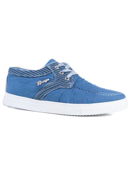 Мъжки мокасини Brago - светло сини