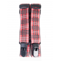 Детски тиранти за панталон - червено каре