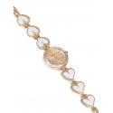 Дамски часовник с верижка на сърца - златист