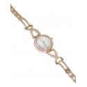 Дамски часовник с метална верижка - бял