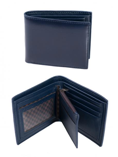 Мъжко портмоне с монетник в син цвят Q -1916 Blue