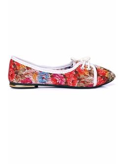 Обувки Олга червено