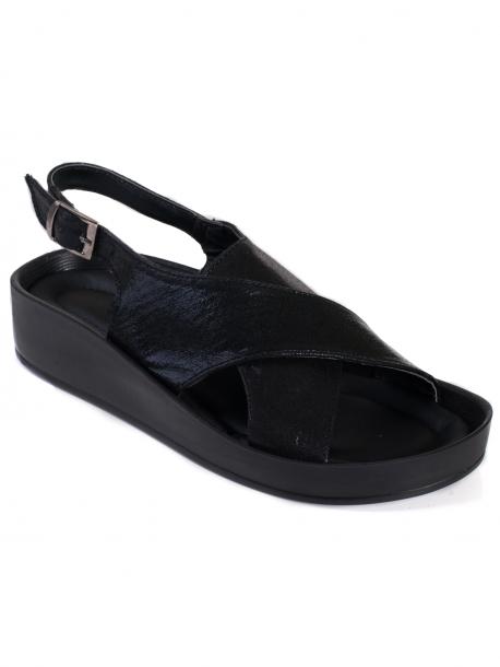 Удобни дамски сандали - черни