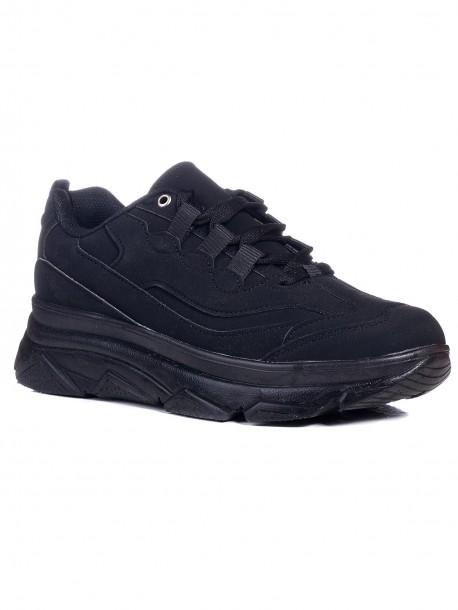 Дамски маратонки в черен цвят