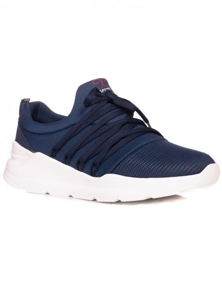 Мъжки спортни обувки без връзки - сини