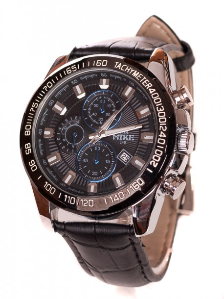 Мъжки часовник с кожена верижка