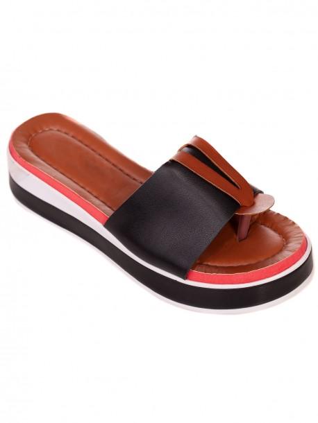 Черни удобни дамски чехли