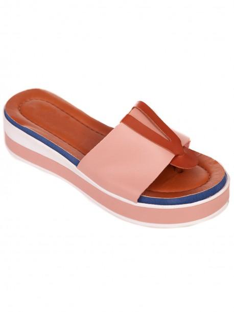 Розови удобни дамски чехли