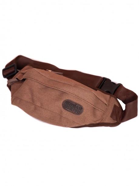Чанта тип паласка - кафява