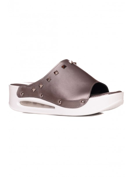 Ортопедични дамски чехли в сив цвят
