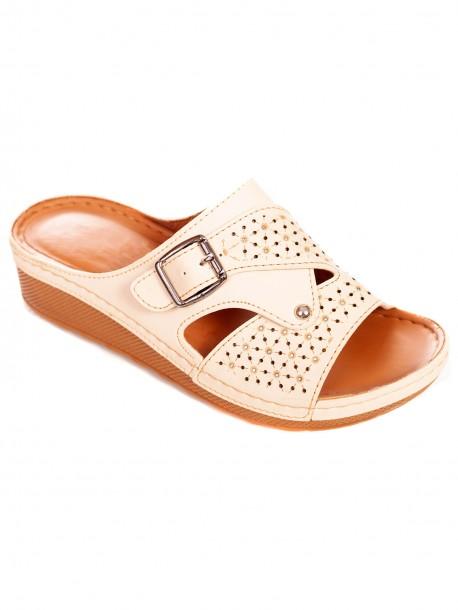 Дамски чехли от изкуствена кожа