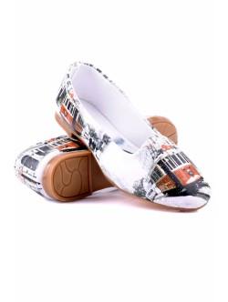Обувки Лондон бяло